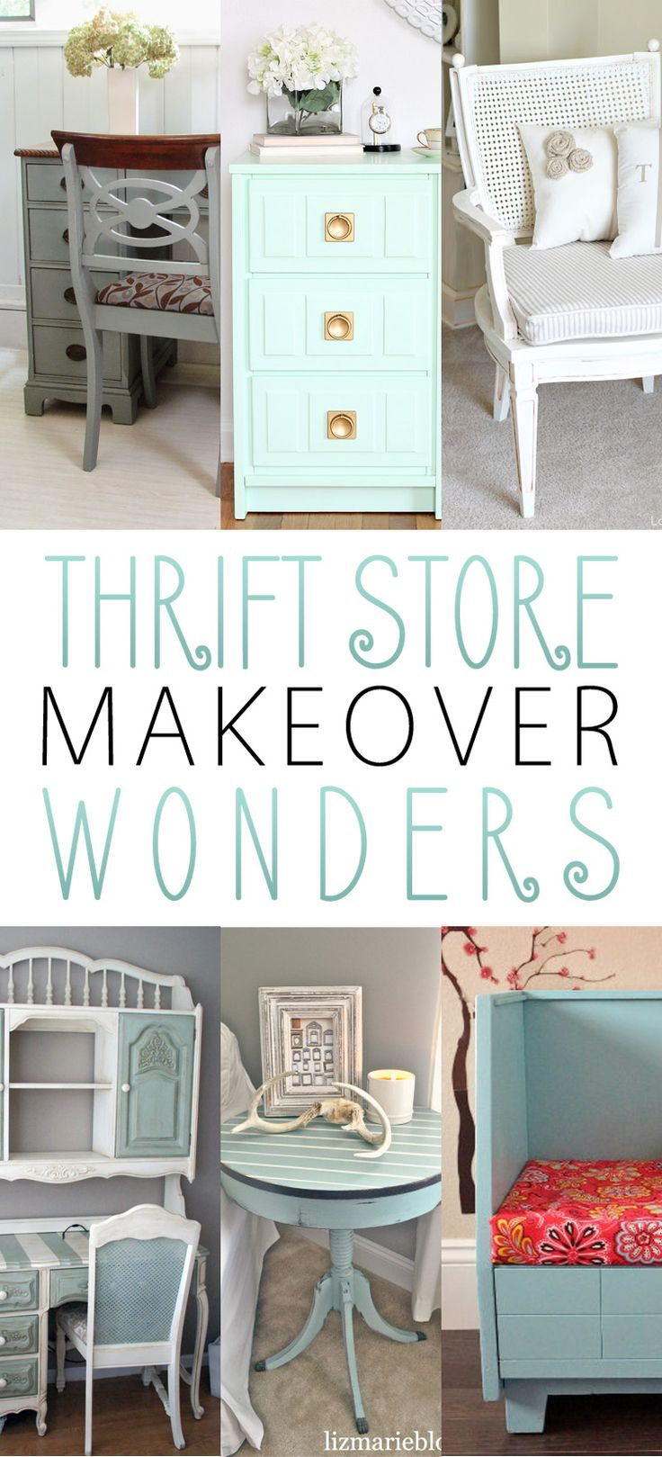 Thrift Store Makeover Wonders - The Cottage Market. Also, take a look at this AWSOME NEW THRIFT STORE APP at http://xthrift.com