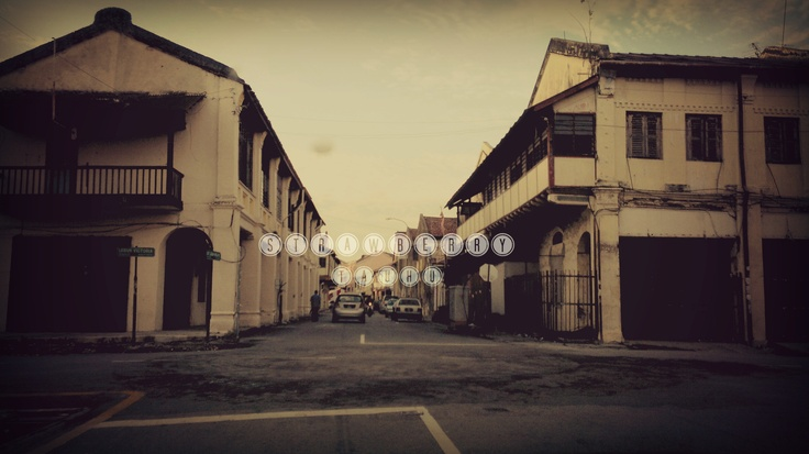 Old street in Penang, Malaysia.  My hometown. And I'm so proud of it.