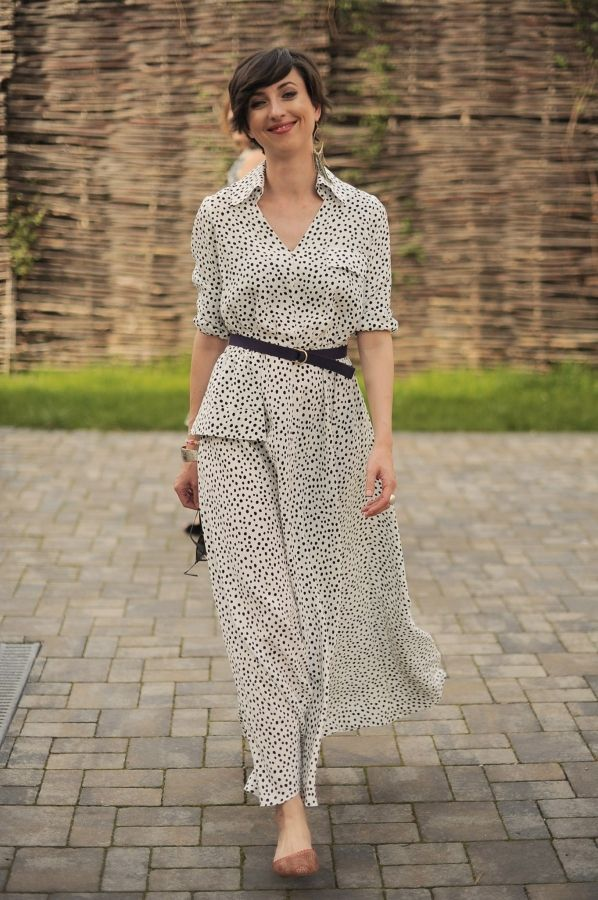 Trendy maxi dress by Colors of Love - Polkadot me Dress