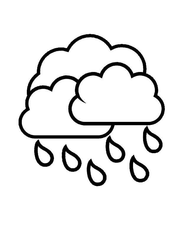 Raindrop From Cloud Coloring Page Color Luna Coloring Pages Apple Coloring Pages Printable Coloring Pages