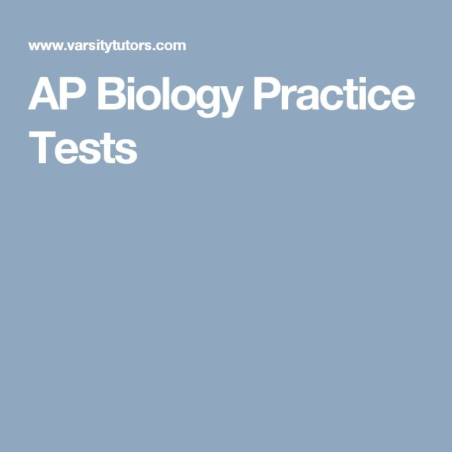 AP Biology Practice Tests