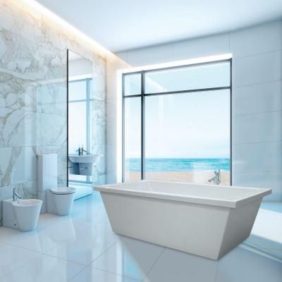 Hydro Systems Brighton 6 Ft. Freestanding Air Bath Tub In White BRI7236TAW  At The