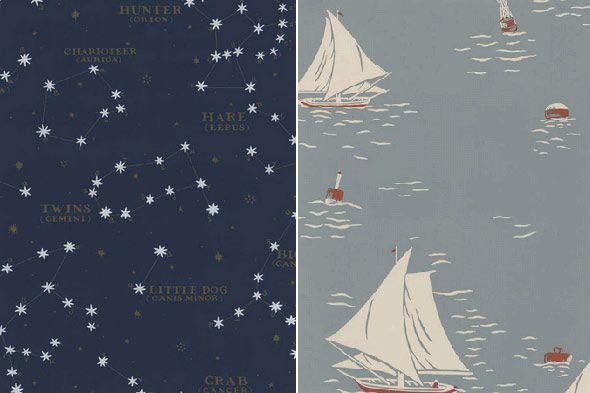 Astrology & Nautical Theme Wallpaper