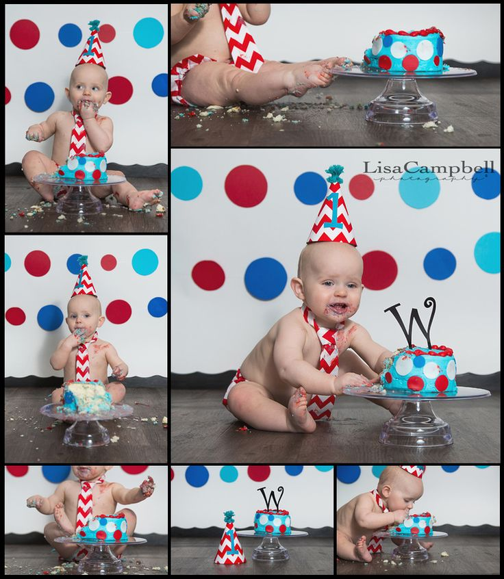 1 year cake smash...Dr. Seuss theme (Lisa Campbell Photography)