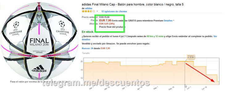 Balón Adidas final Milán sólo 7.95 - http://ift.tt/295UU3y