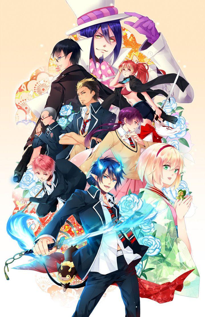 Blue exorcist, Ao no exorcist, Anime characters