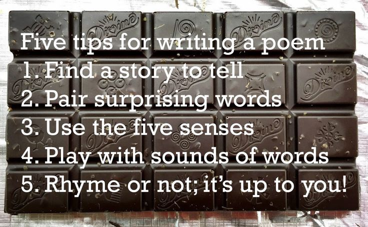 Caroline Lawrence will be judge of the Divine Chocolate / Christian Aid Poetry Competition 2016. Here are her five tips for writing a poem.