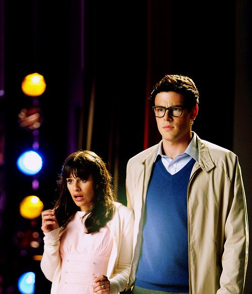 glee. Lea Michele and Cory monteith