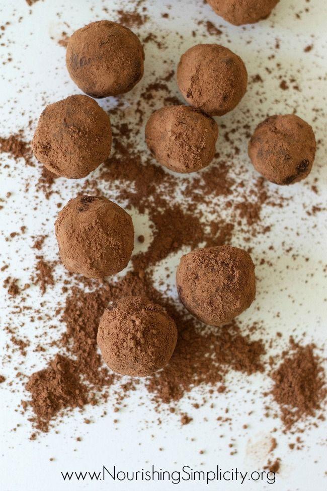 Bittersweet Chocolate Truffles - Nourishing Simplicity | Chocolate ...