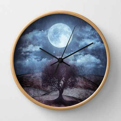 Once upon a time... The lone tree. Wall Clock by Viviana Gonzalez - $30.00