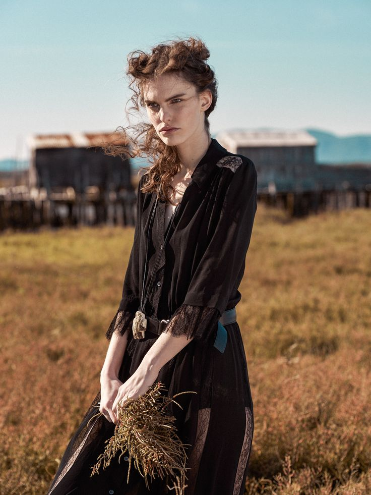 """Wild Land""; Production: Snowberry; Casting: Snowberry; Location Scouting: Snowberry; Location: Portugal; Photographer: Frederico Martins; Styling: Ana Campos; Make-up: Cristina Gomes; Hair: Helena Vaz pereira; Model: Lisa Verberght agency Best Models"