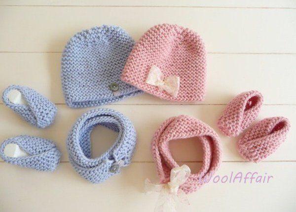 schnell und einfach Babyschuhe stricken -  Grobstrick DIY - Babyschuhe mit vielen Bildern gut erklärt