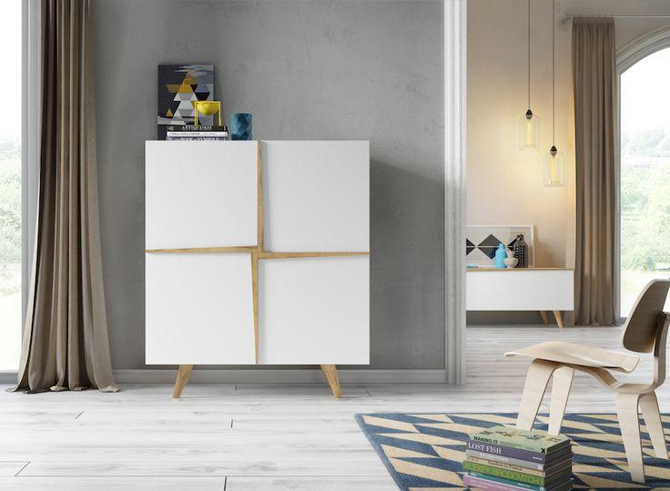 Nuestro programa Aspen incluye muebles tan sugerentes como este aparador lacado en blanco y con madera en acabado natural. ¿En qué parte de tu casa lo pondrías?  #diseño #hogar #decoración #interiores #DugarHome #eDHition #Aspen