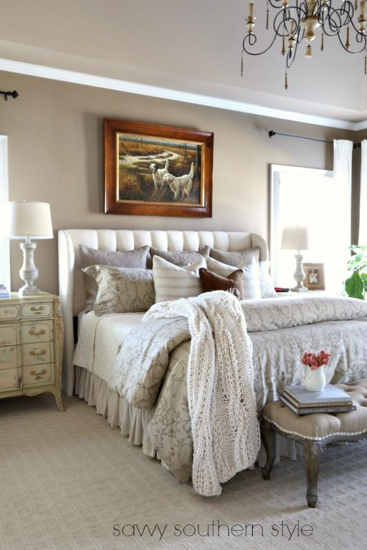 Mixing Masculine And Feminine In The Master I Am Bhome Pinterest Gardens Master Bedrooms