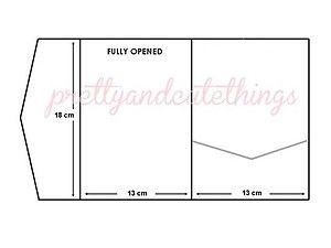 Kraft Wedding Invitations DIY Pocketfold Envelopes BOX Vintage Brown Invite C | eBay