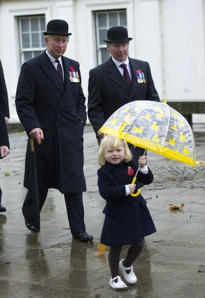 Prince Charles attends a remembrance service at the Guards' Chapel