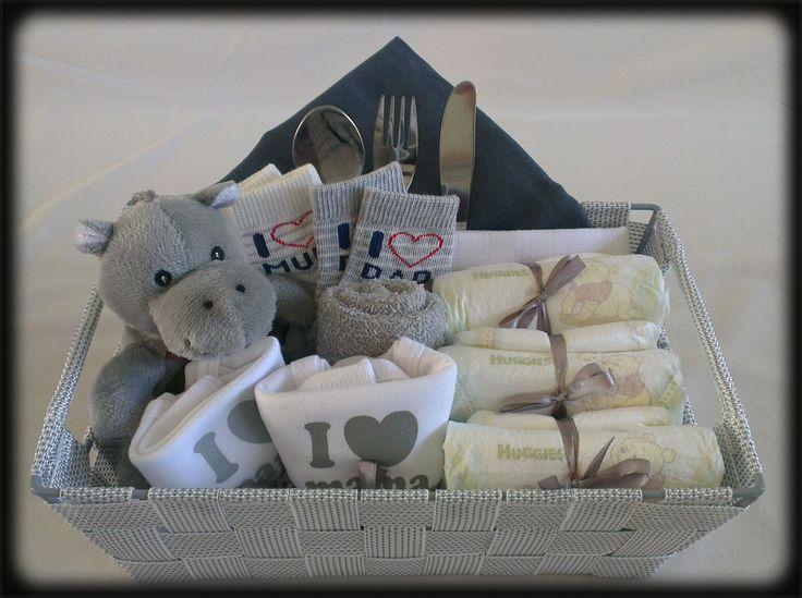 Kraammand 'I love...'/Baby Gift Basket 'I love...'