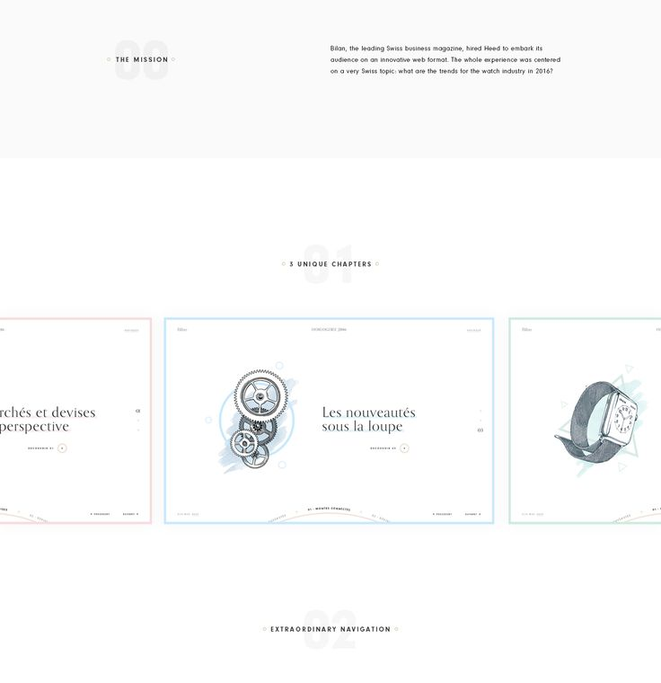 The leading Swiss business magazine Bilan asked us if we could build a super cool microsite for the audience about the watch trends.