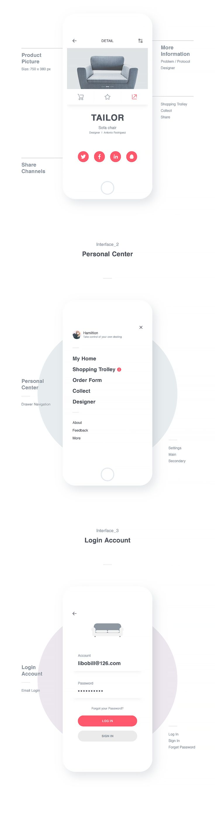 best 20+ ui portfolio ideas on pinterest | ui design, web ui