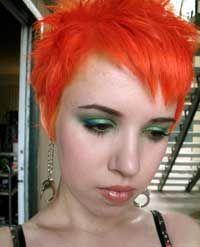Manic Panic Electric Lava orange hair dye on pixie cutCrazy Colors, Hair Colors, Colors Chalk, Manic Panic, Hair Dyes, Colours Hair, Mc11034 Electric Lava, Panic Electric, Brilliant Hair