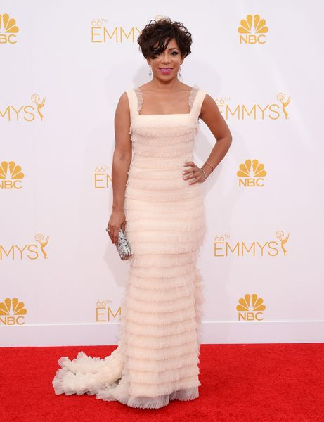 Selenis Leyva of Orange Is the New Black arrives at the 66th Emmy Awards.