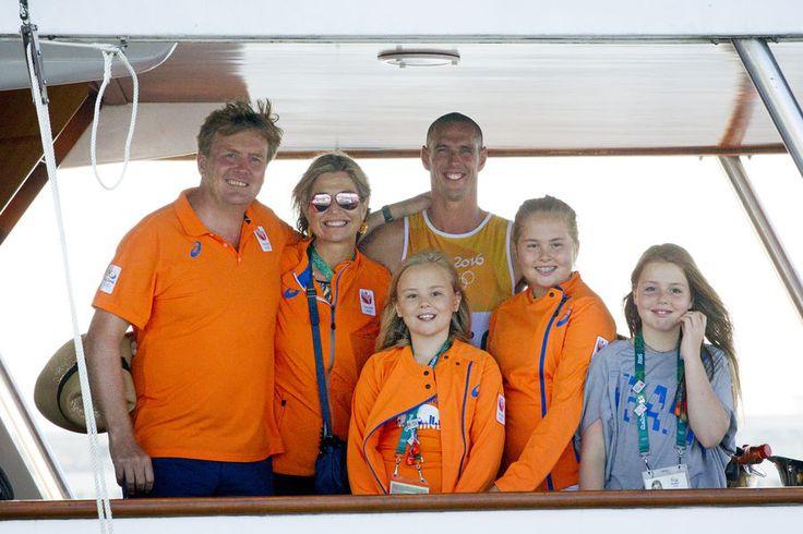 La famille royale des Pays-Bas avec Dorian van Rijsselberghe aux JO de Rio, le…
