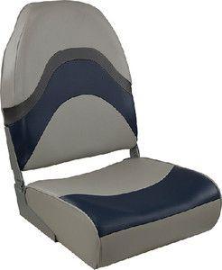 Springfield 1062031 Premium Folding Seat Blue/Gray Made by Springfield