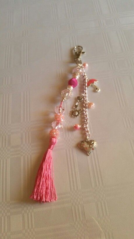Beaded keyring with charms and a tassle made by my mum for my kitchen... love it