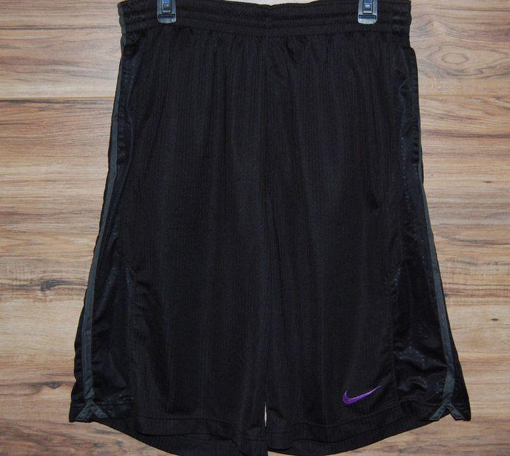 Nike Kobe Basketball Shorts Dri-Fit Size XL Black Mamba Black Purple #Nike #Shorts