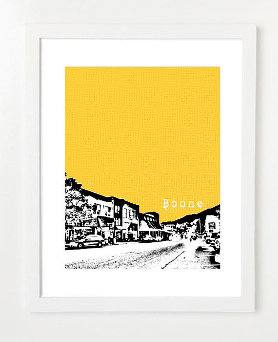 NEED THIS!!! Boone, North Carolina Poster - State Love Series Art Print - 8x10. $20.00, via Etsy.