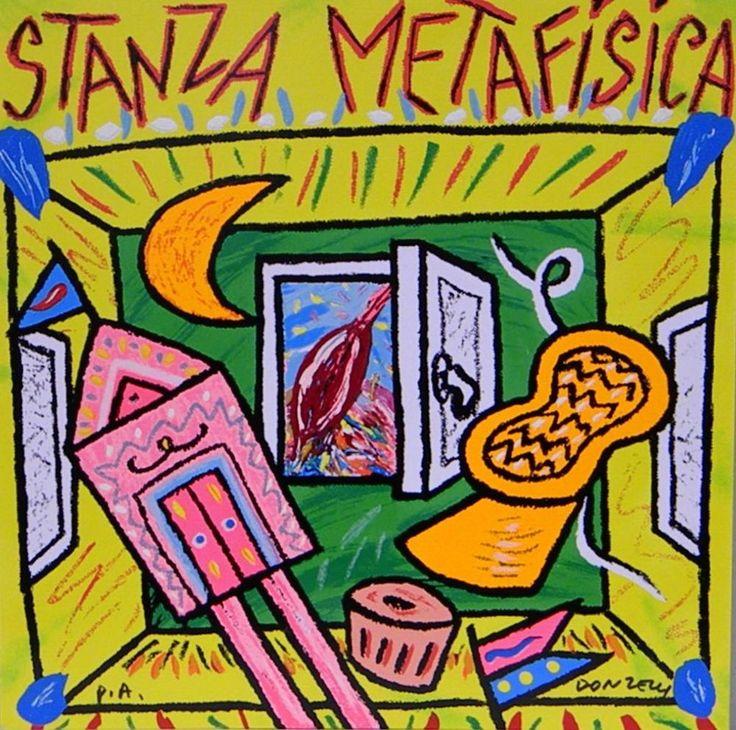 DONZELLI BRUNO - Stanza Metafisica - Serigrafia Polimaterica - 35 x 35 cm