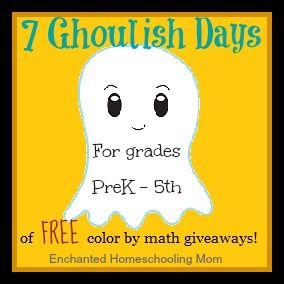 7 Goulish Days of Free Color by Math Giveaways Button