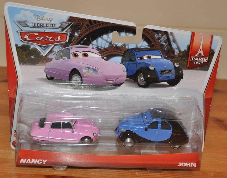Disney Pixar Cars John & Nancy Citron Paris Tour 2014 Diecast 1:55 BNIC Kids Toy