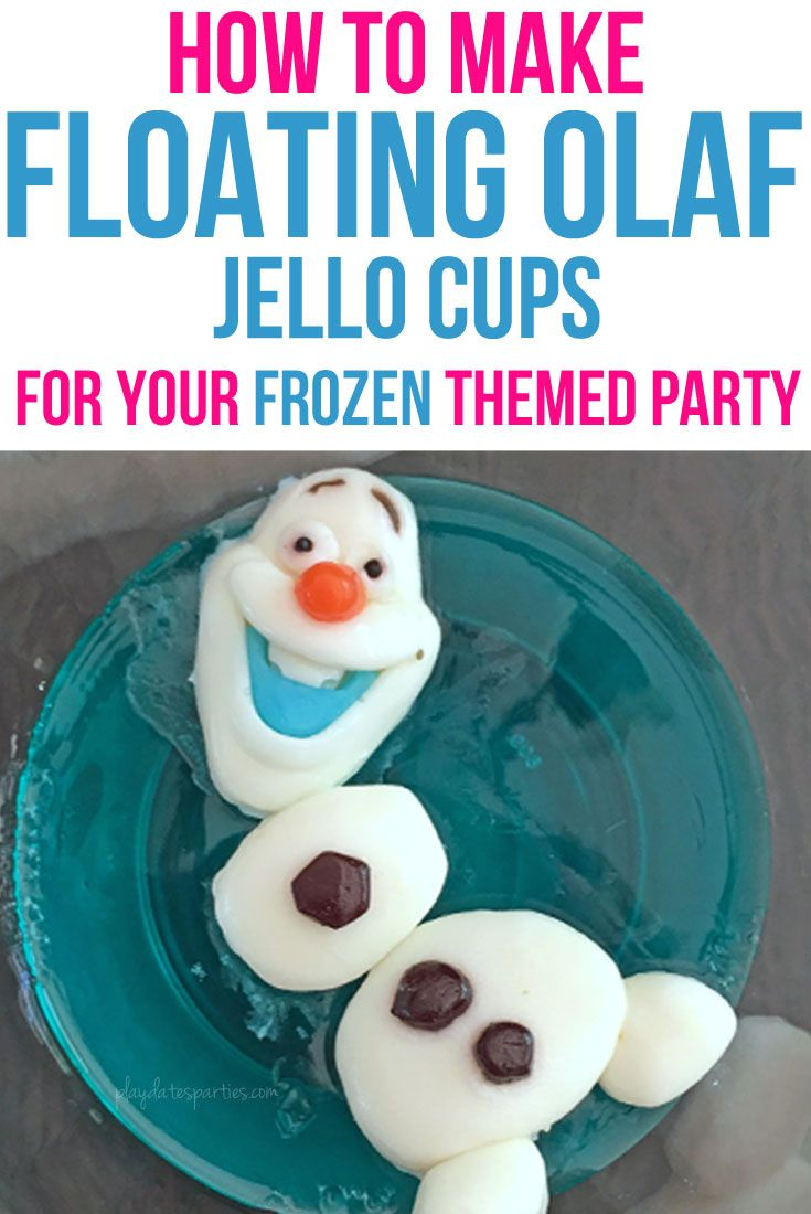 These floating Olaf Jello cups are surprisingly easy! In 3 simple steps, you can make this adorable no-muss, no-fuss Frozen-themed snack featuring everyone's favorite snowman. Best of all it's sure to impress your party guests and thrill the kids. http://