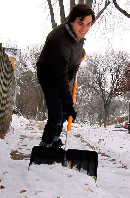 The perfect gift for a new home owner who will have sidewalks to shovel this winter! The Snow Pusher Shovel has a durable ergonomic design with a wide head that makes clearing large amounts of snow quick and easy.