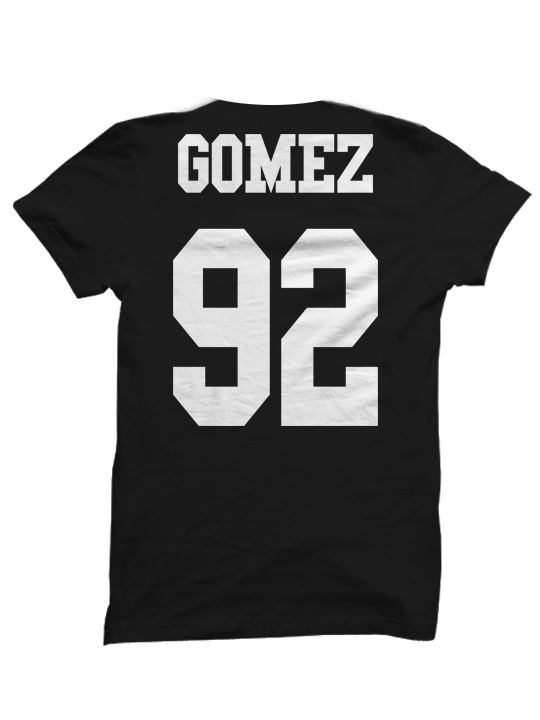SELENA GOMEZ T-SHIRT SELENA GOMEZ JERSEY SHIRT SELENA GOMEZ CONCERT TICKETS MERCH CELEBRITY SHIRTS HIPPY SHIRTS BIRTHDAY GIFTS CHRISTMAS GIFTS [SELENA GOMEZ JERSEY]  Color Options: White, Black, Grey Sizes: xs-XL (Anything 2X & over requires additional pricing)   PLEASE READ:   Made with 1...