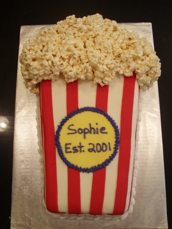 Movie Theater Cake, I created in 2009