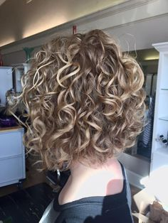 very cute perm with highlights