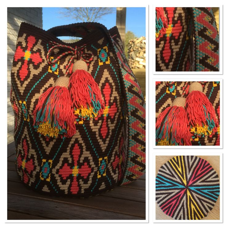 $265 Crocheted bag size XL