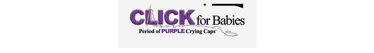 Period of Purple Crying Caps--donate baby caps to help prevent infant abuse