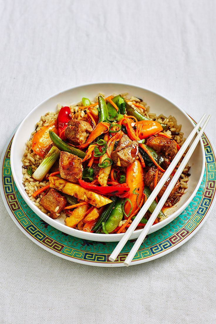 Sweet and sour pork remains one of our favourites for many reasons - it's quick, easy and the whole family will love it. Served on a bed of rice, it makes a tasty and filling midweek meal.