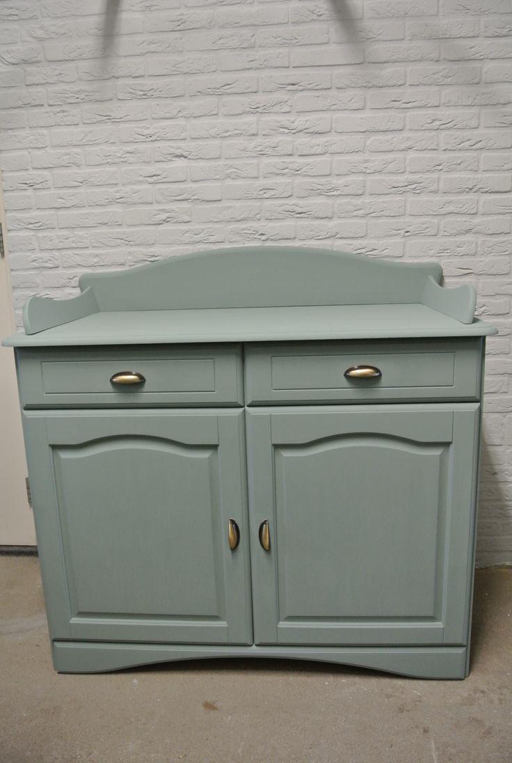 Commode geschilderd met krijtverf kleur oval room bleu farrow and ball meubels van petit - Bleu farrow and ball ...