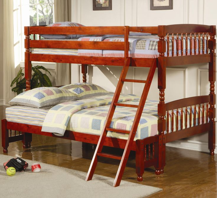coral twin over full bunk bed by coaster