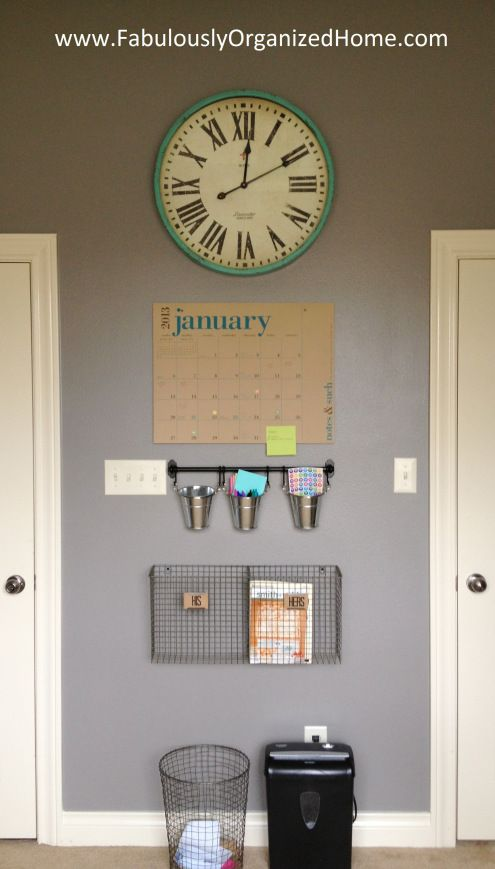 Organization Station with Trashcan and words