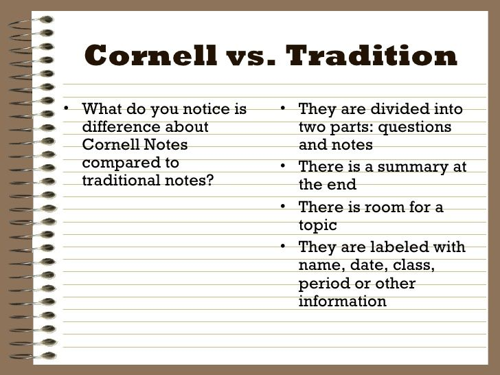 7 best College - Taking Notes images on Pinterest School, Books - sample cornell note