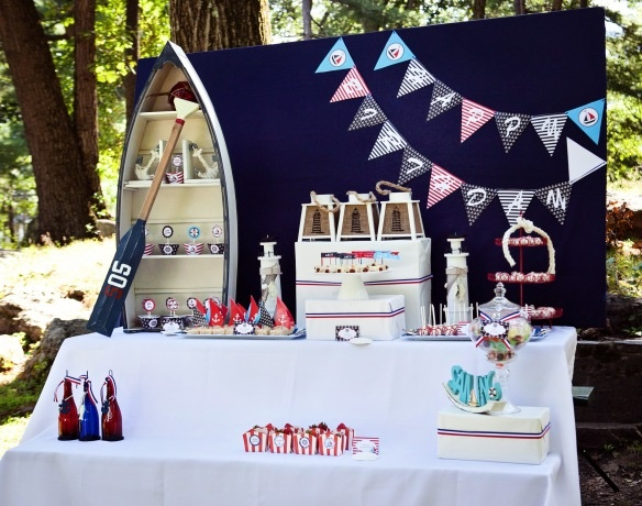 A preppy nautical themed party