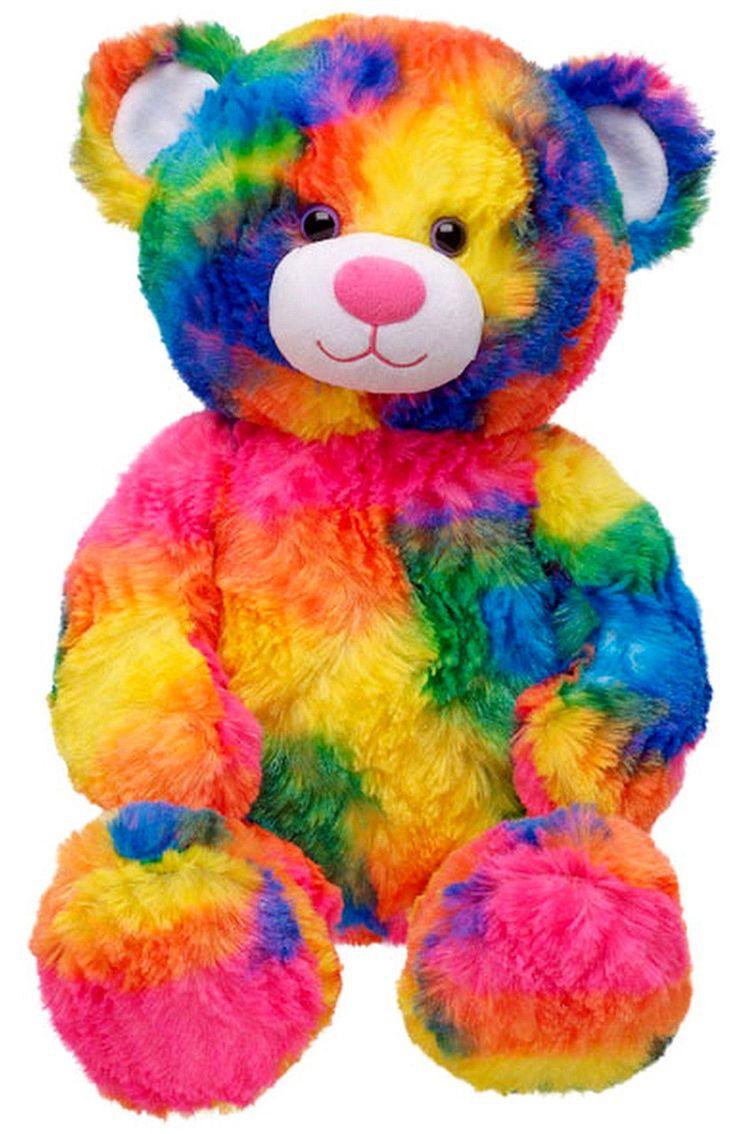 мягкий разноцветный медвежонок игрушка фото че-то боялась