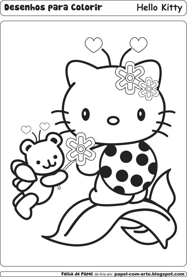hello kitty coloring pages hello kitty coloring book - Coloring Pages Kitty Summer