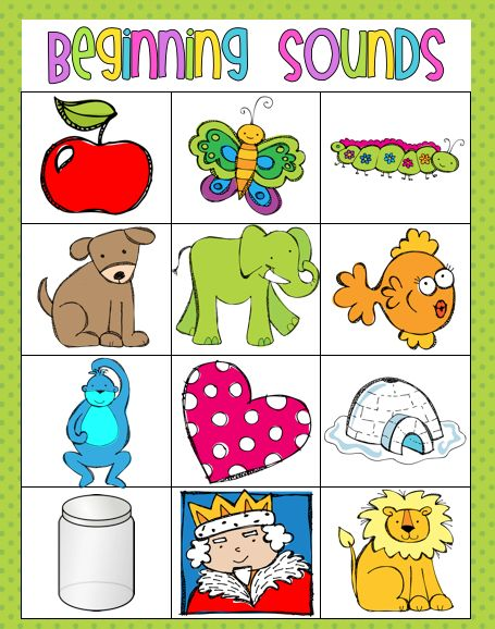 Beginning Sounds match.... And other good literacy center ideas