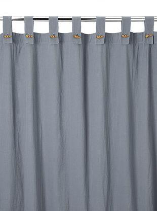 Coyuchi Seersucker Shower Curtain, Charcoal